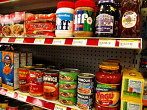 Canned goods and other foods